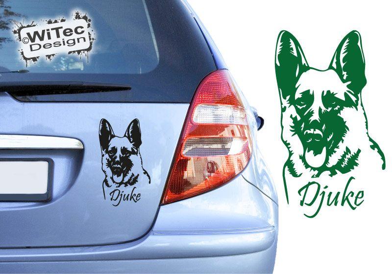 Deutscher Schäferhund Name Aufkleber Autoaufkleber Hunde