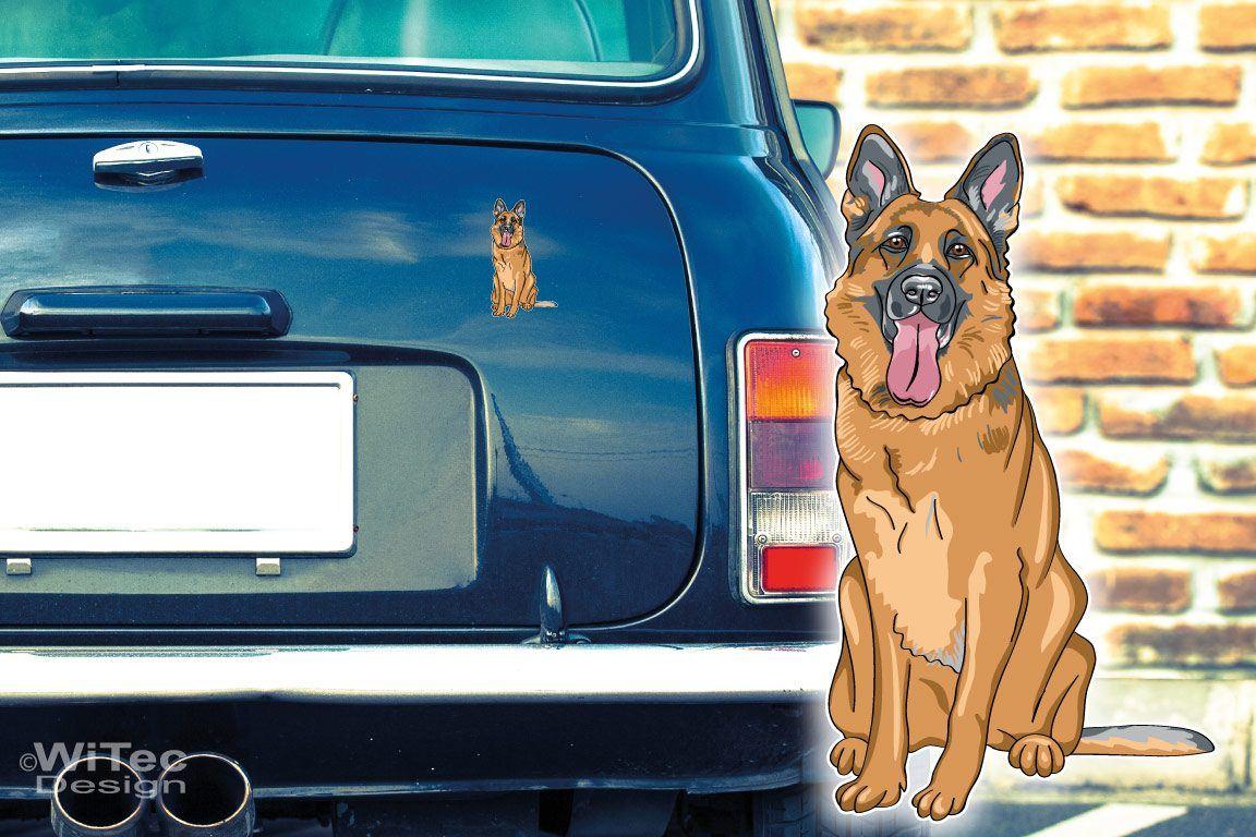 Hundeaufkleber Deutscher Schäferhund Autoaufkleber