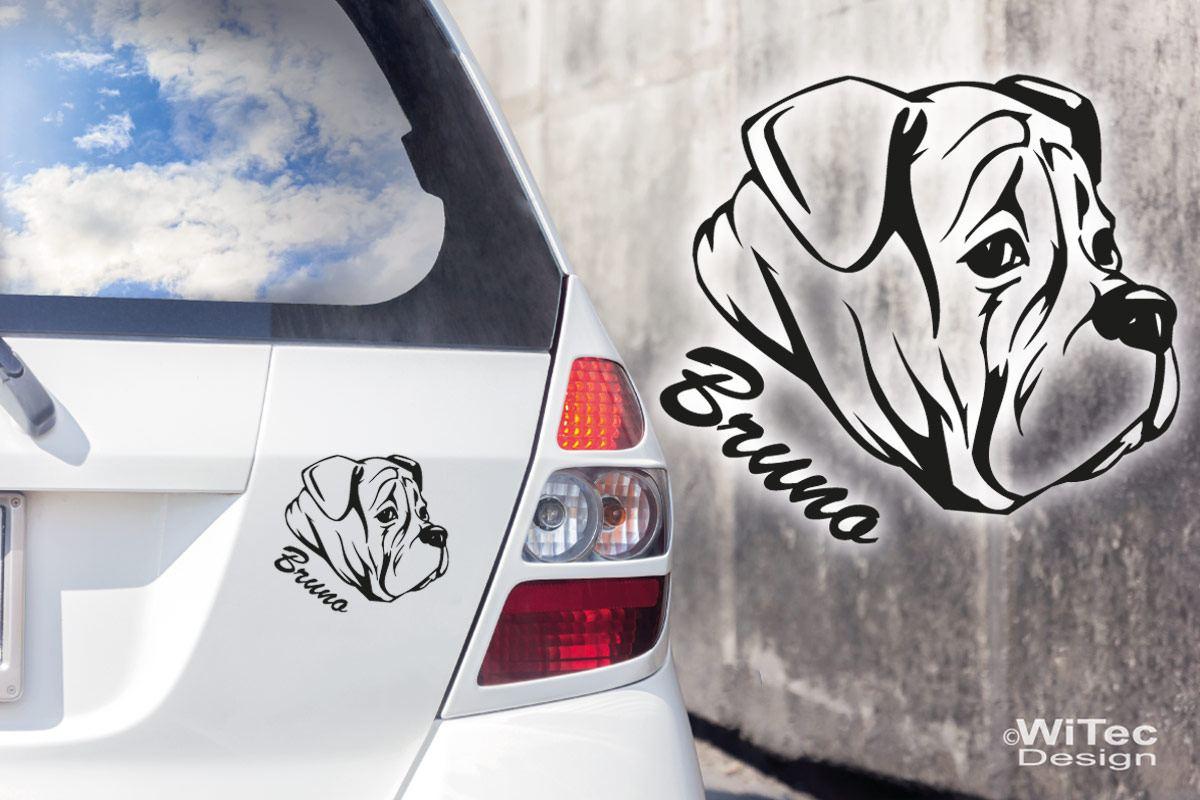 Hundeaufkleber Englische Bulldogge Auto Aufkleber Name Hunde Malosser