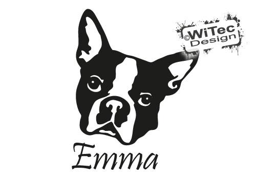 Französische Bulldogge Name Aufkleber Hundeaufkleber