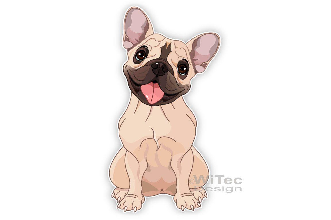Französische Bulldogge Hundeaufkleber Autoaufkleber