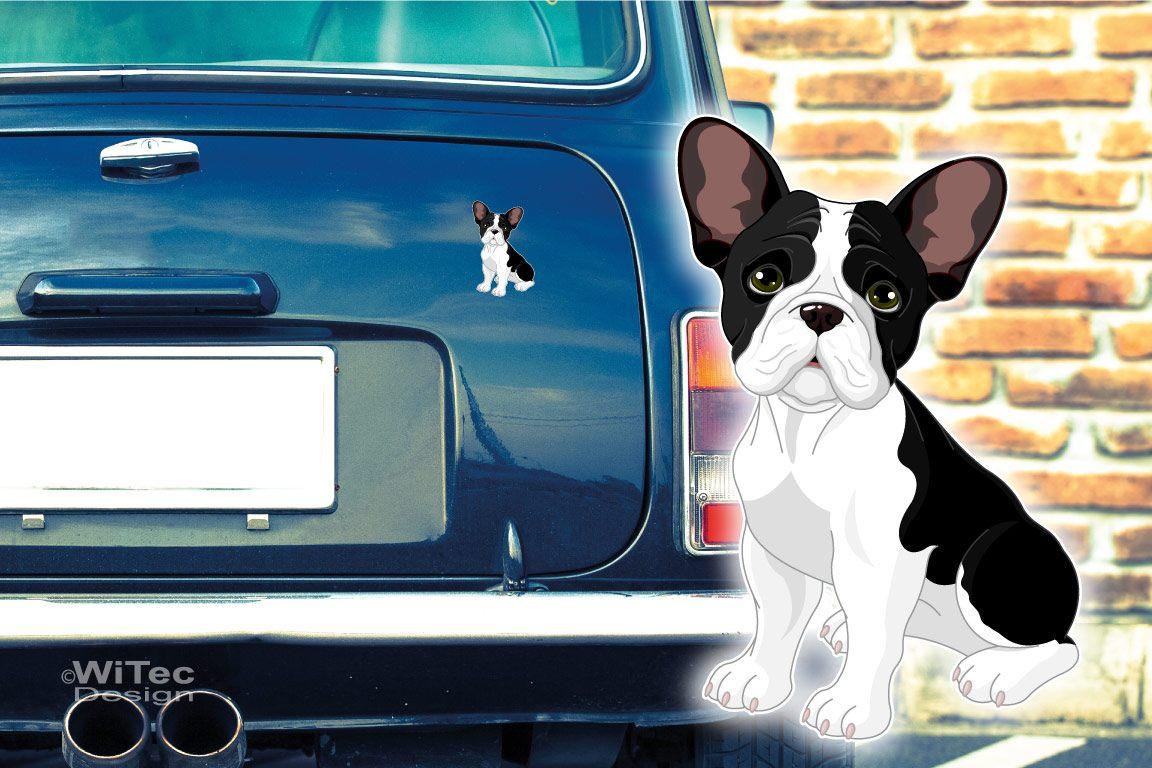 Hundeaufkleber Französische Bulldogge French Bulldog