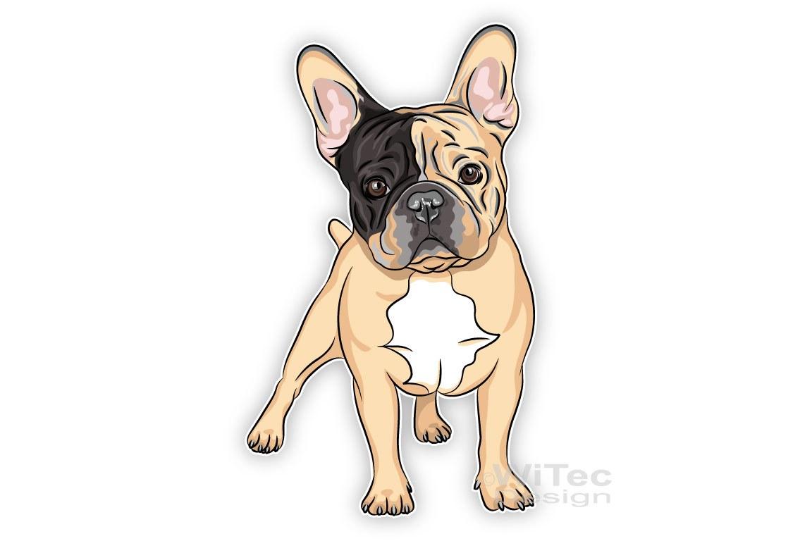 Hundeaufkleber Französische Bulldogge Auto aufkleber Digitaldruck