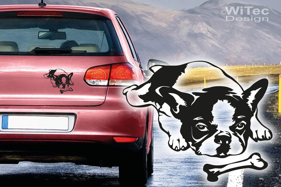 Hundeaufkleber Französische Bulldogge Auto Aufkleber