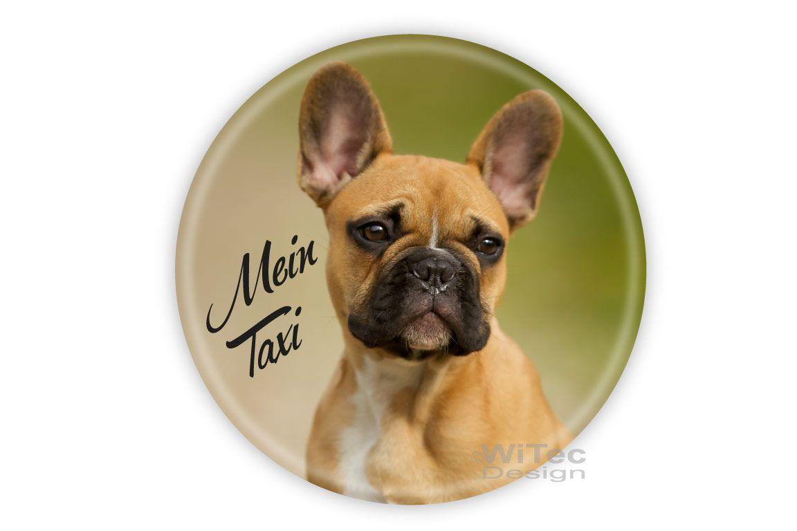 Hundeaufkleber Französische Bulldogge Mein Taxi Auto Aufkleber