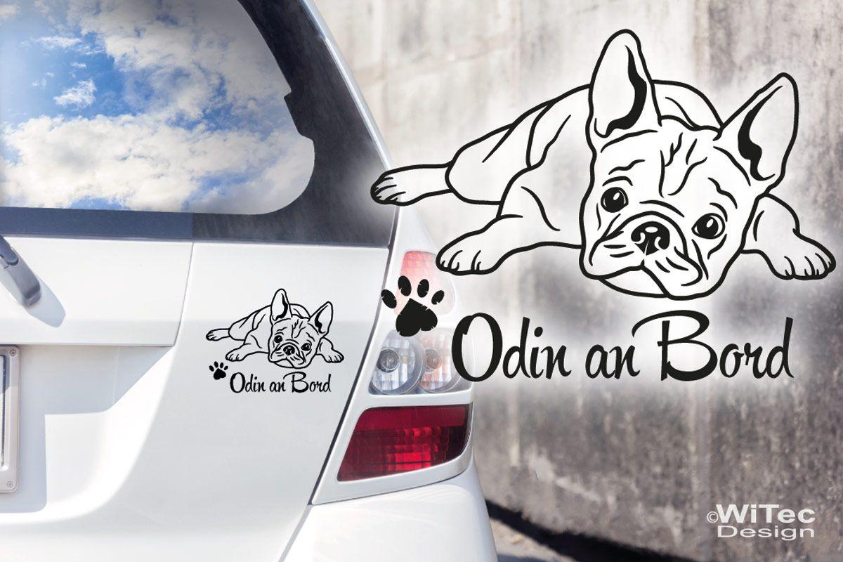 Hundeaufkleber Französische Bulldogge Name Auto Aufkleber