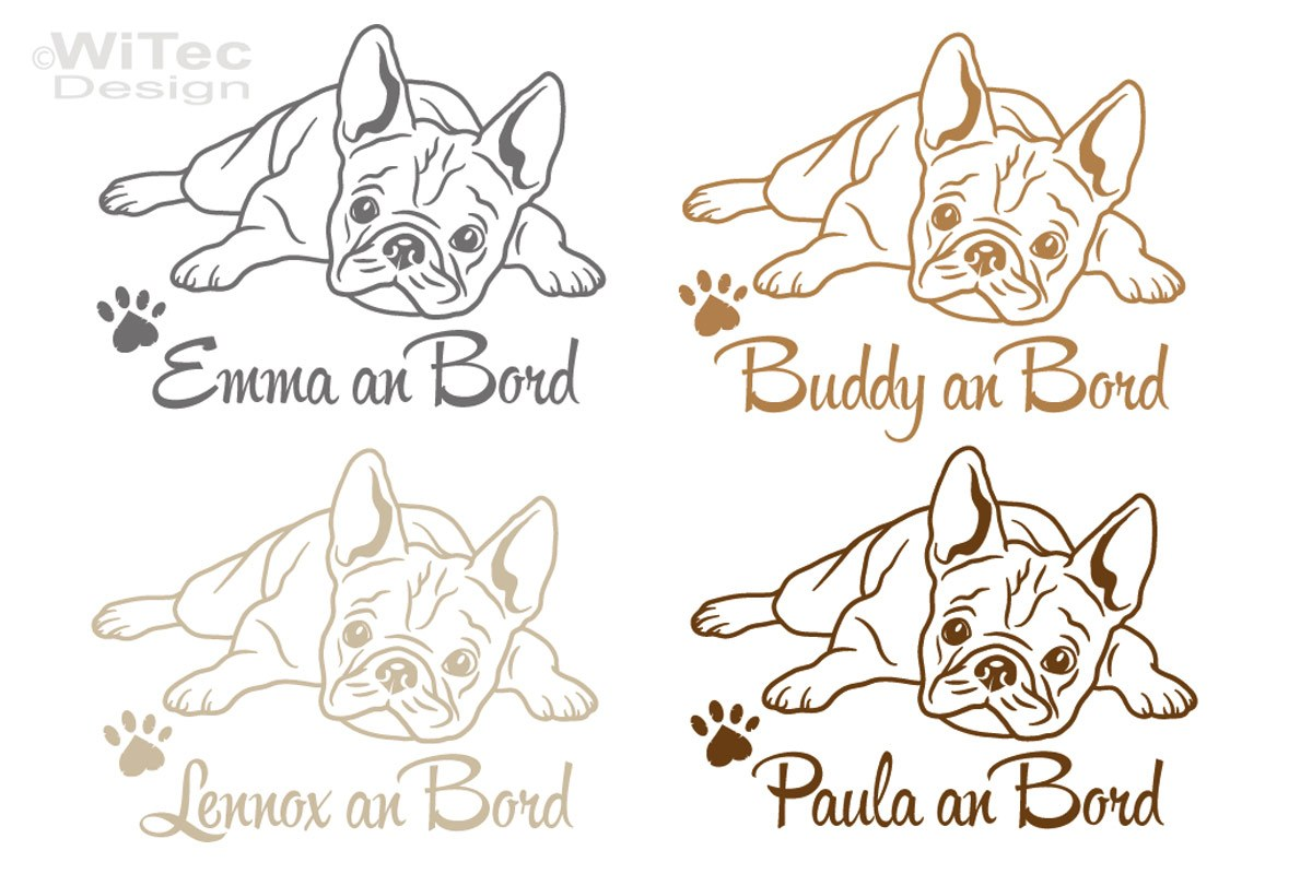 Hundeaufkleber Französische Bulldogge Auto Aufkleber Tattoo