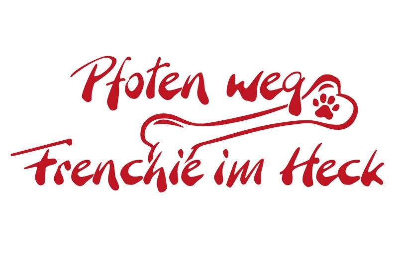 Hundeaufkleber Pfoten weg Frenchie im Heck Aufkleber Französische Bulldogge