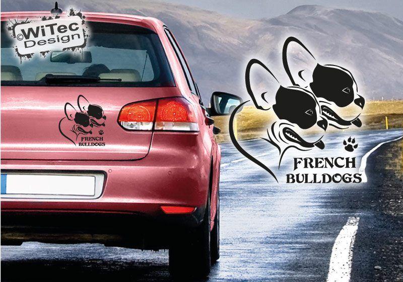 Hundeaufkleber French Bulldogs Französische Bulldogge