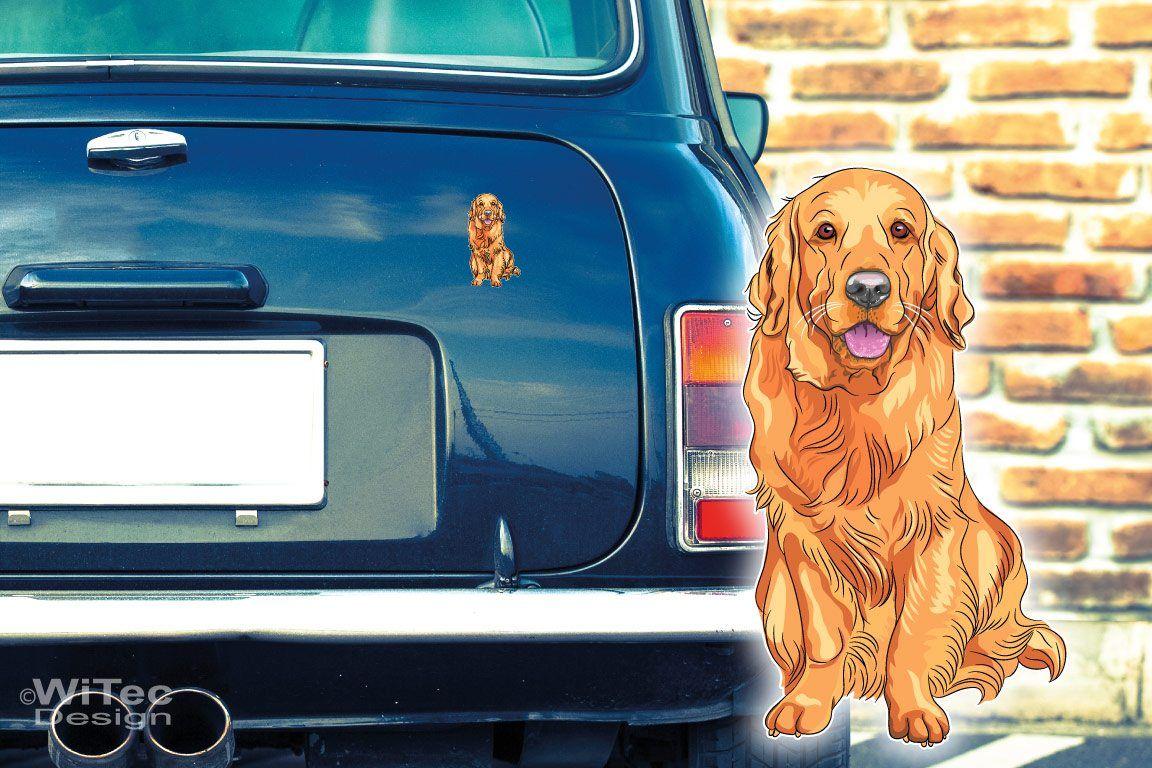 Hundeaufkleber Golden Retriever Auto Aufkleber Sticker