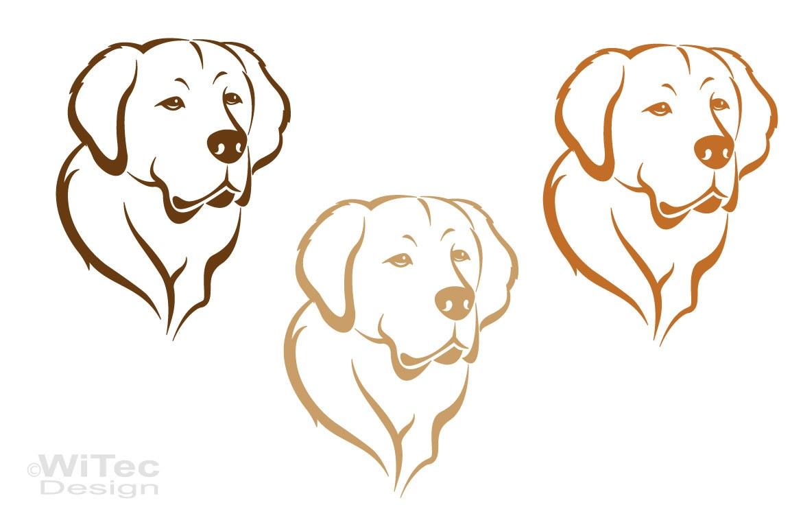 Hundeaufkleber Golden Retriever Aufkleber