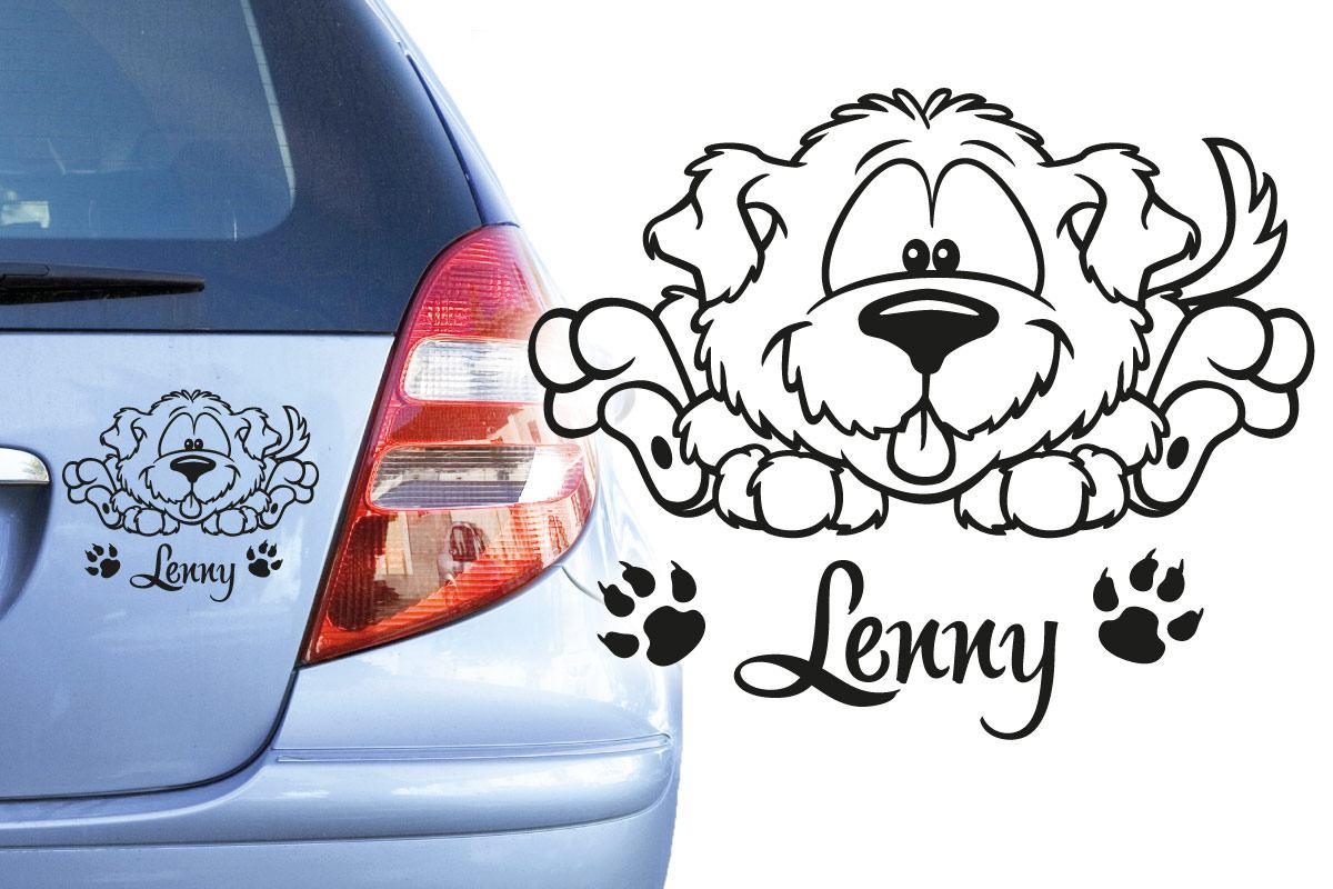 Hundeaufkleber Hund Autoaufkleber Mischling Auto Aufkleber