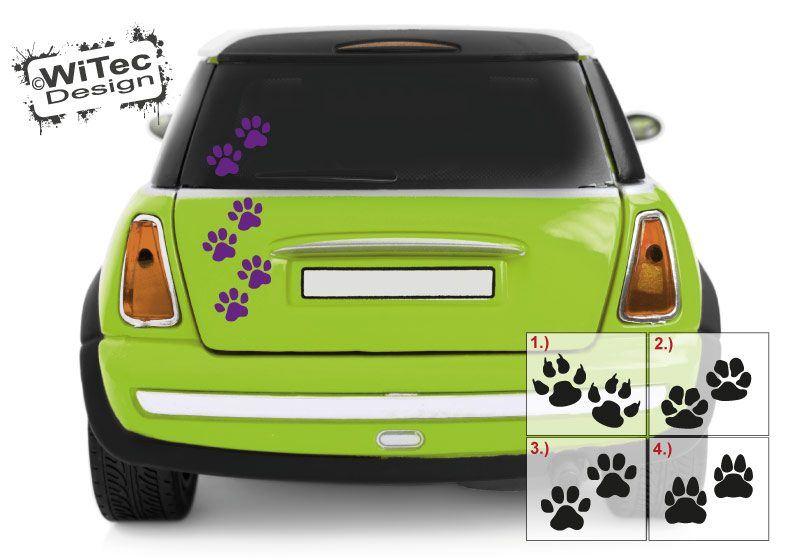 Autoaufkleber Pfoten Hundepfoten Aufkleber Sticker