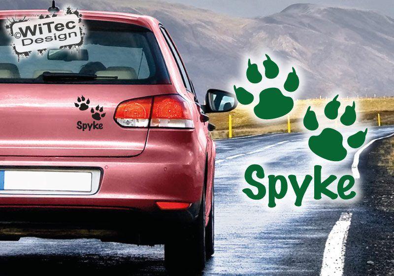 Autoaufkleber Pfote Hund Name Auto Aufkleber Sticker