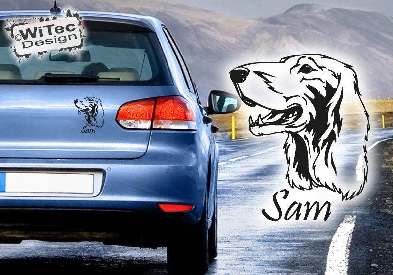 Irish Setter Autoaufkleber Name Auto Aufkleber Hundeaufkleber