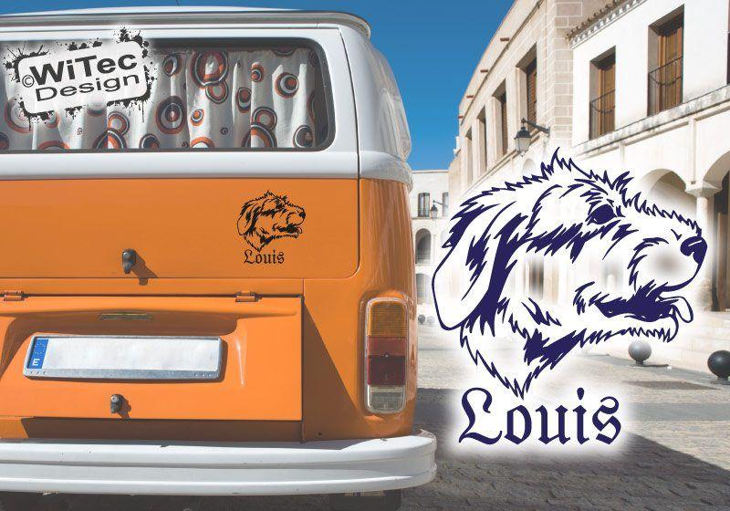 Irish Wolfhound Autoaufkleber Wunschname Hundeaufkleber