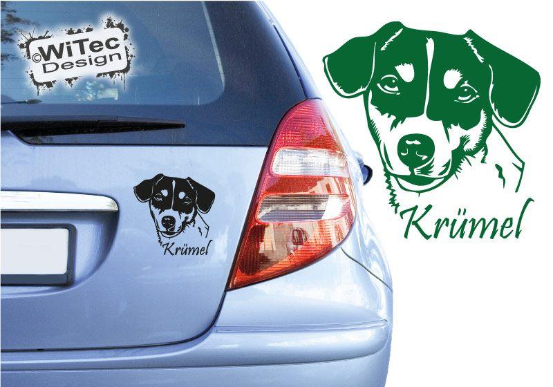 Jack Russell Terrier Wunschname Hundeaufkleber Aufkleber