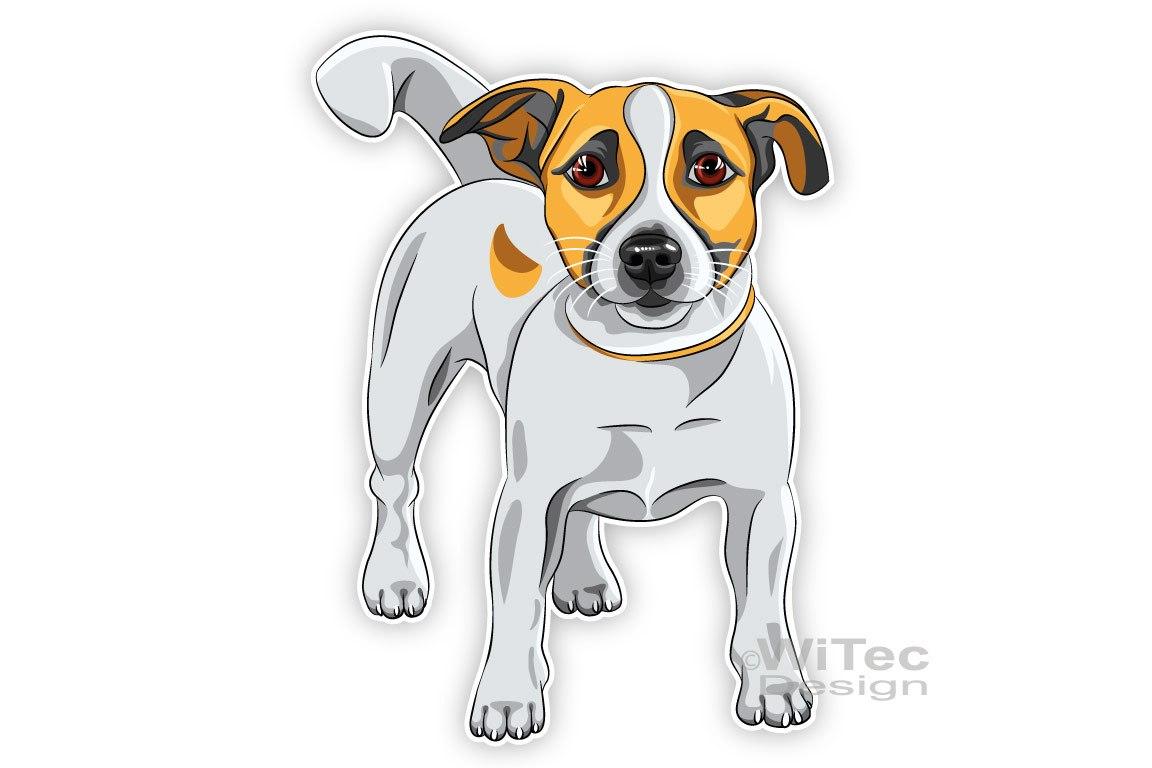 Hundeaufkleber Jack Russell Terrier Autoaufkleber Sticker