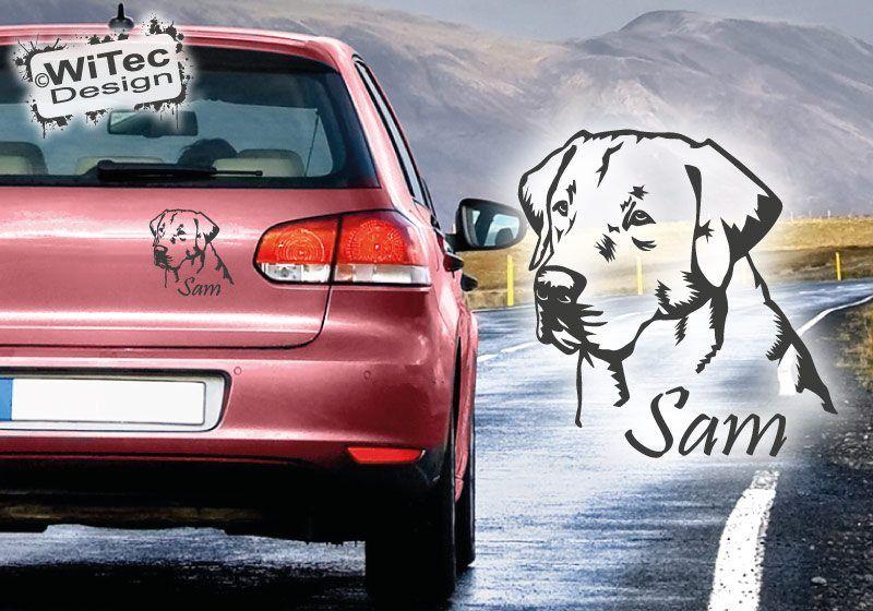 Hundeaufkleber Labrador Wunschname Autoaufkleber Hunde