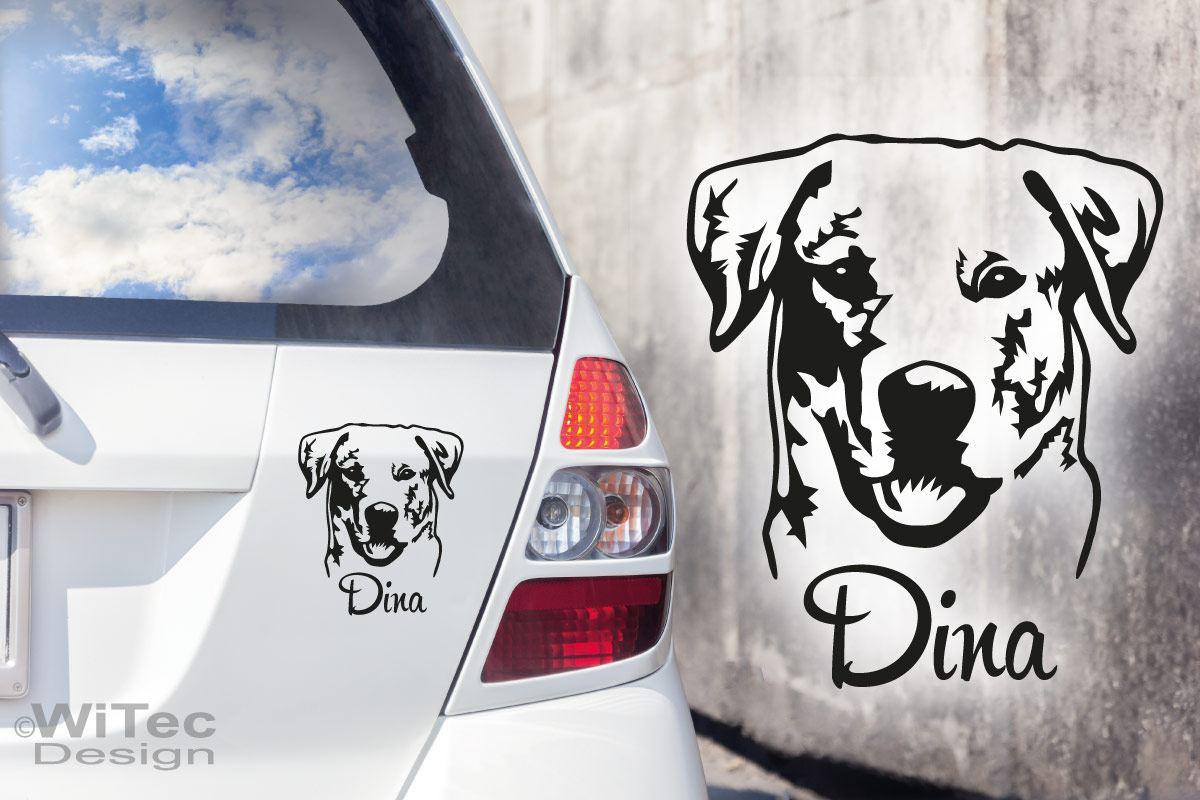 Hundeaufkleber Labrador Auto Aufkleber Wunschname