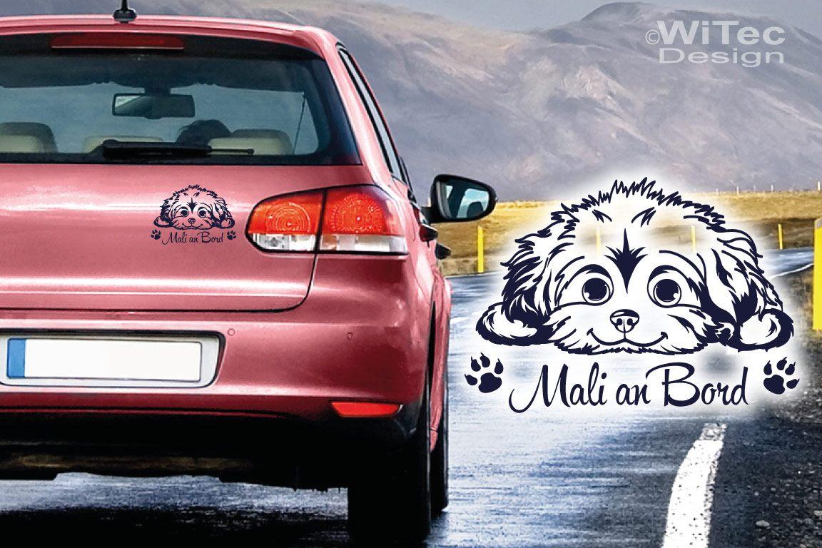 Hundeaufkleber Malteser Wunschname Auto Aufkleber