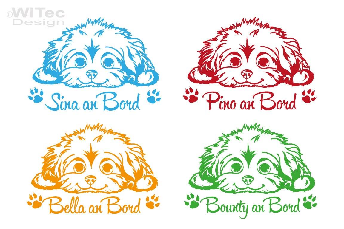 Hundeaufkleber Malteser Autoaufkleber Name