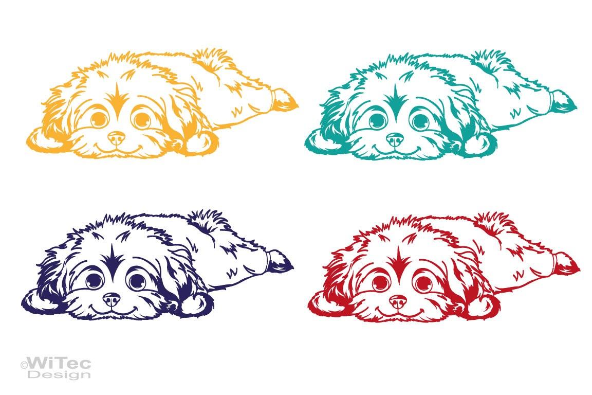 Hundeaufkleber Malteser Autoaufkleber Sticker