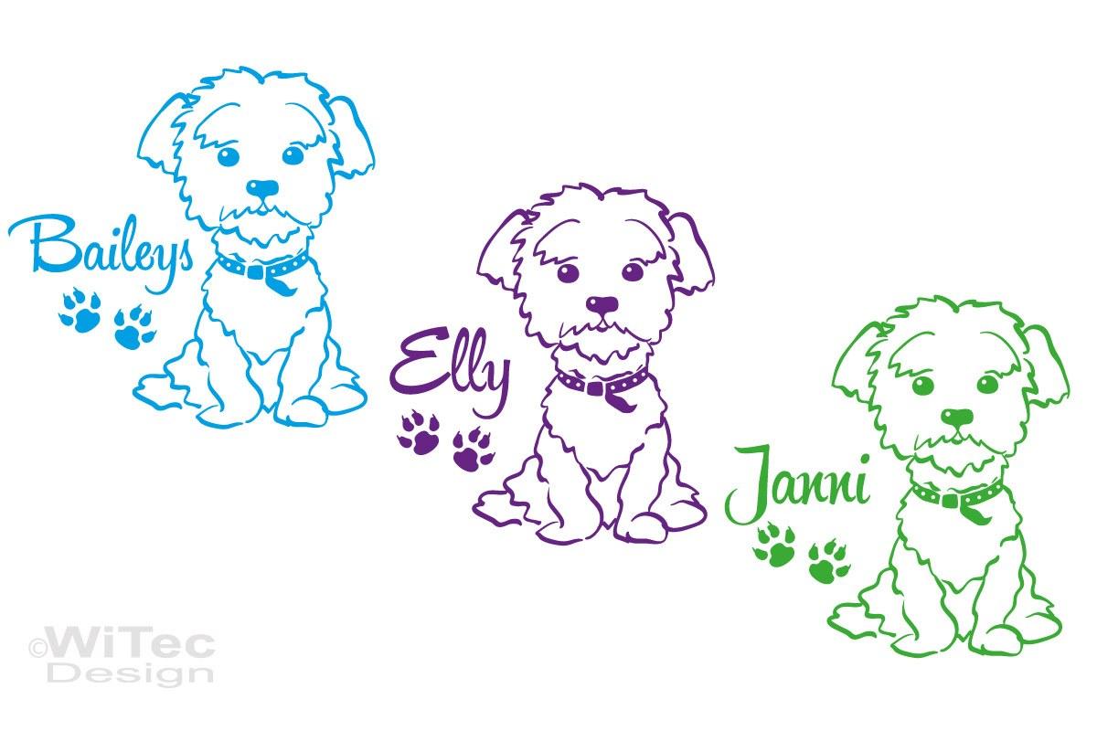 Hundeaufkleber Malteser Autoaufkleber Hundesticker