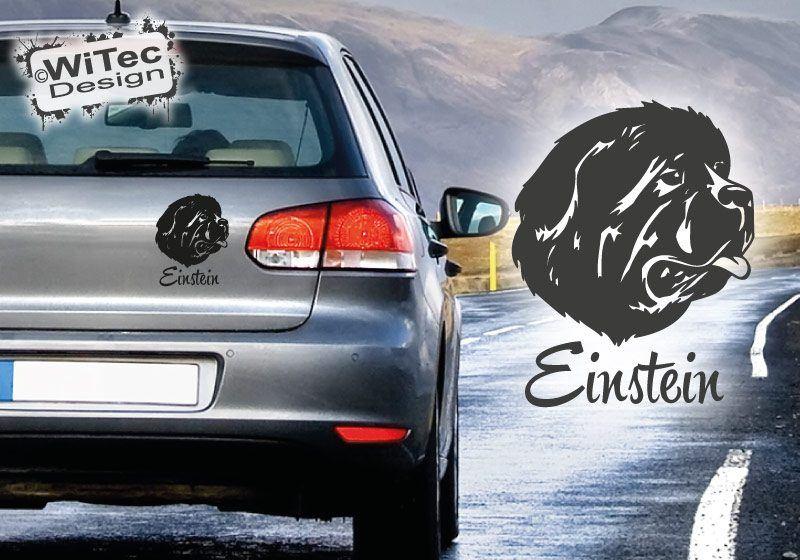 Hundeaufkleber Neufundländer Name Autoaufkleber Auto Aufkleber