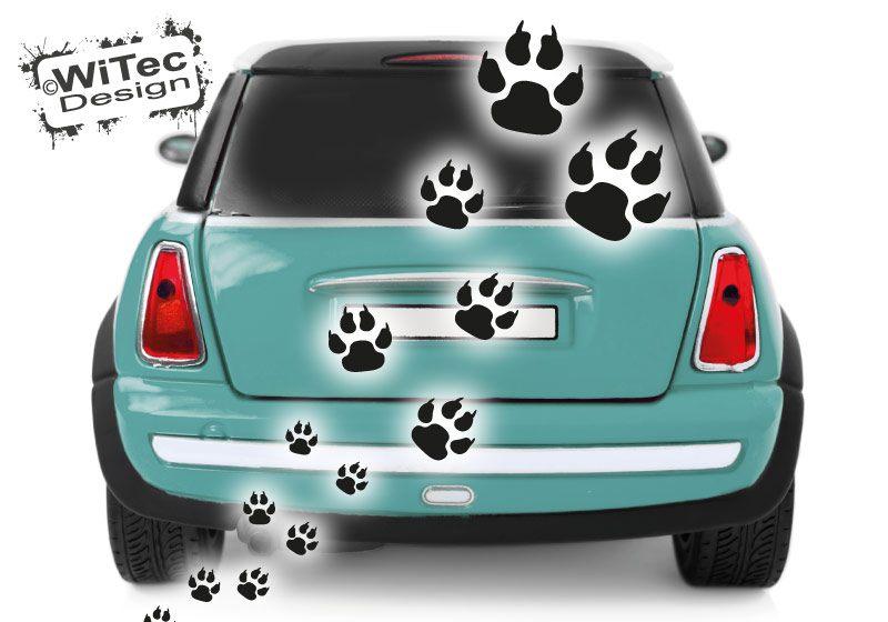 Hundeaufkleber Hundepfoten Autoaufkleber Aufkleber