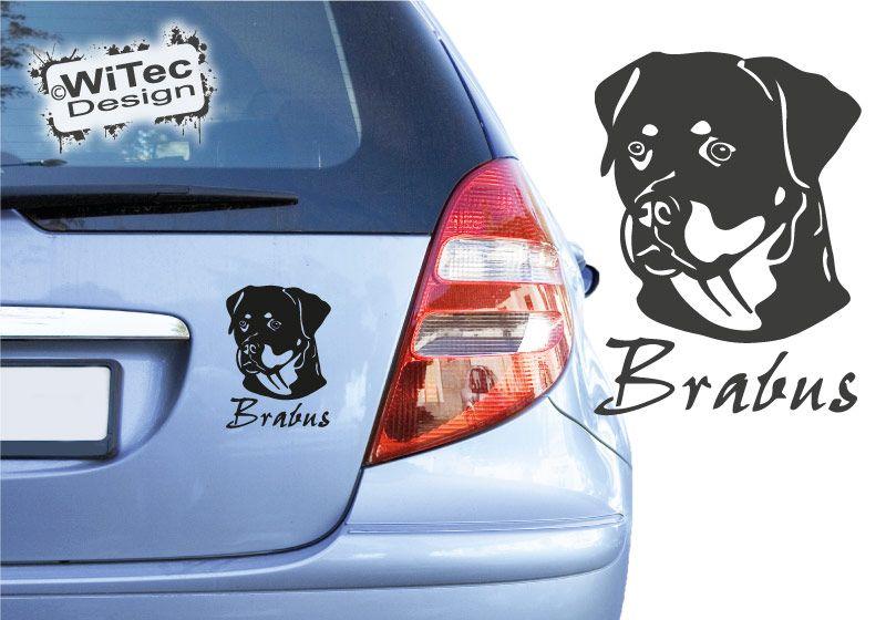 Hundeaufkleber Rottweiler Autoaufkleber Hunde