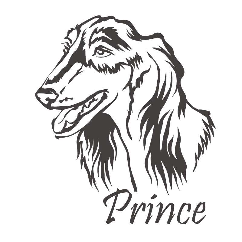 Hundeaufkleber Saluki Windhund Name Pfoten