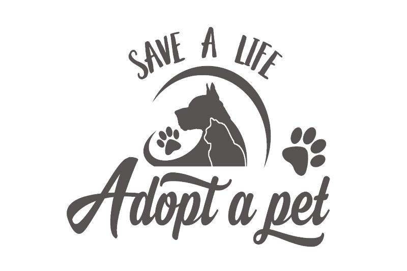 Hundeaufkleber Save a life adopt a pet Autoaufkleber Hund Katze