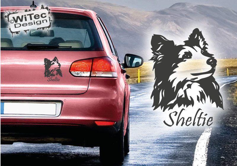 Hundeaufkleber Sheltie Shetland Sheepdog Autoaufkleber