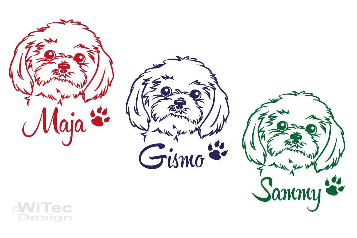 Hundeaufkleber Shih Tzu Name Hundesticker Hunde Tattoo