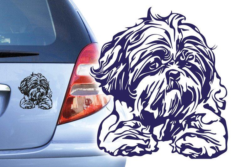 Hundeaufkleber Shih Tzu Autoaufkleber Autoaufkleber