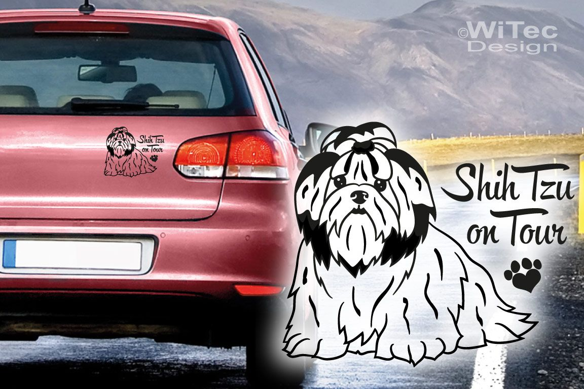 Hundeaufkleber Shih Tzu Auto Aufkleber Sticker