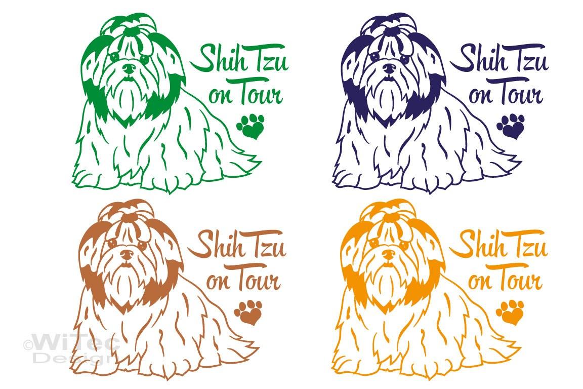Hundeaufkleber Shih Tzu Autoaufkleber