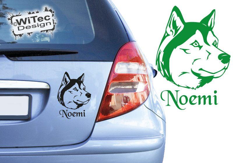 Siberian Husky Autoaufkleber Name Hundeaufkleber Auto Aufkleber