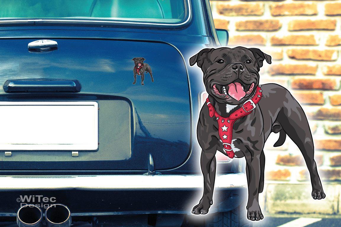 Hundeaufkleber Staffordshire Bull Terrier Autoaufkleber