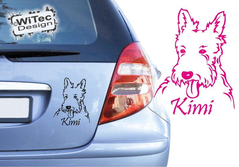 Hundeaufkleber West Highland Terrier Name Aufkleber Autoaufkleber