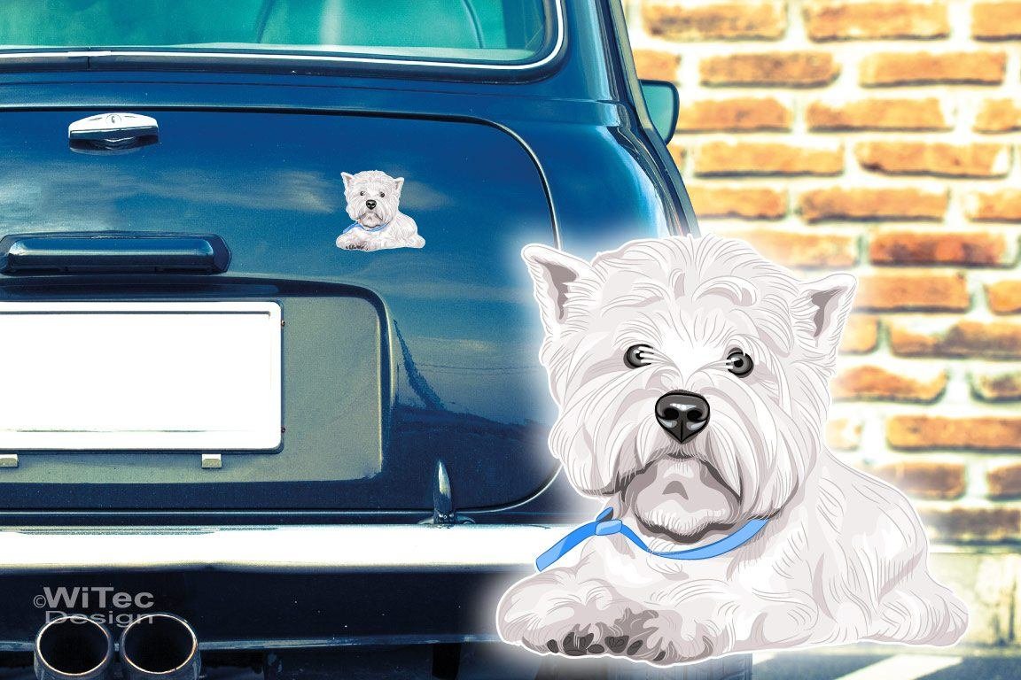 Hundeaufkleber West Highland White Terrier Autoaufkleber