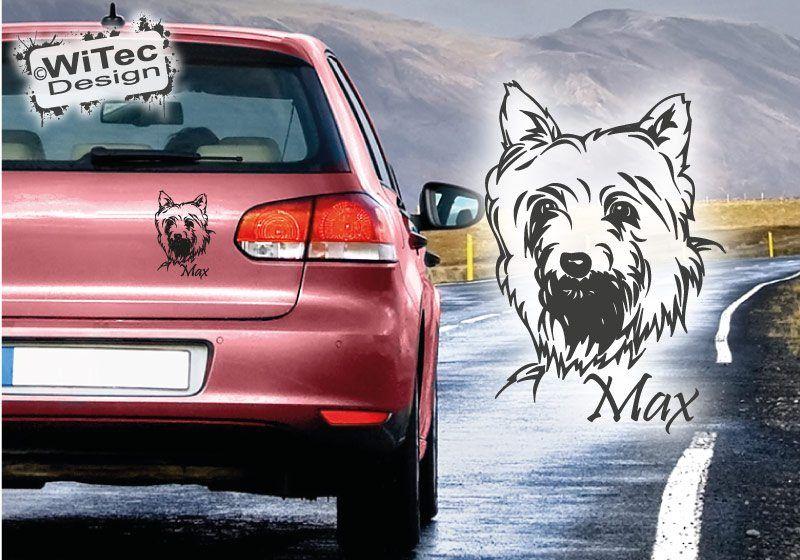 Yorkshire Terrier Wunschname Hundeaufkleber Aufkleber