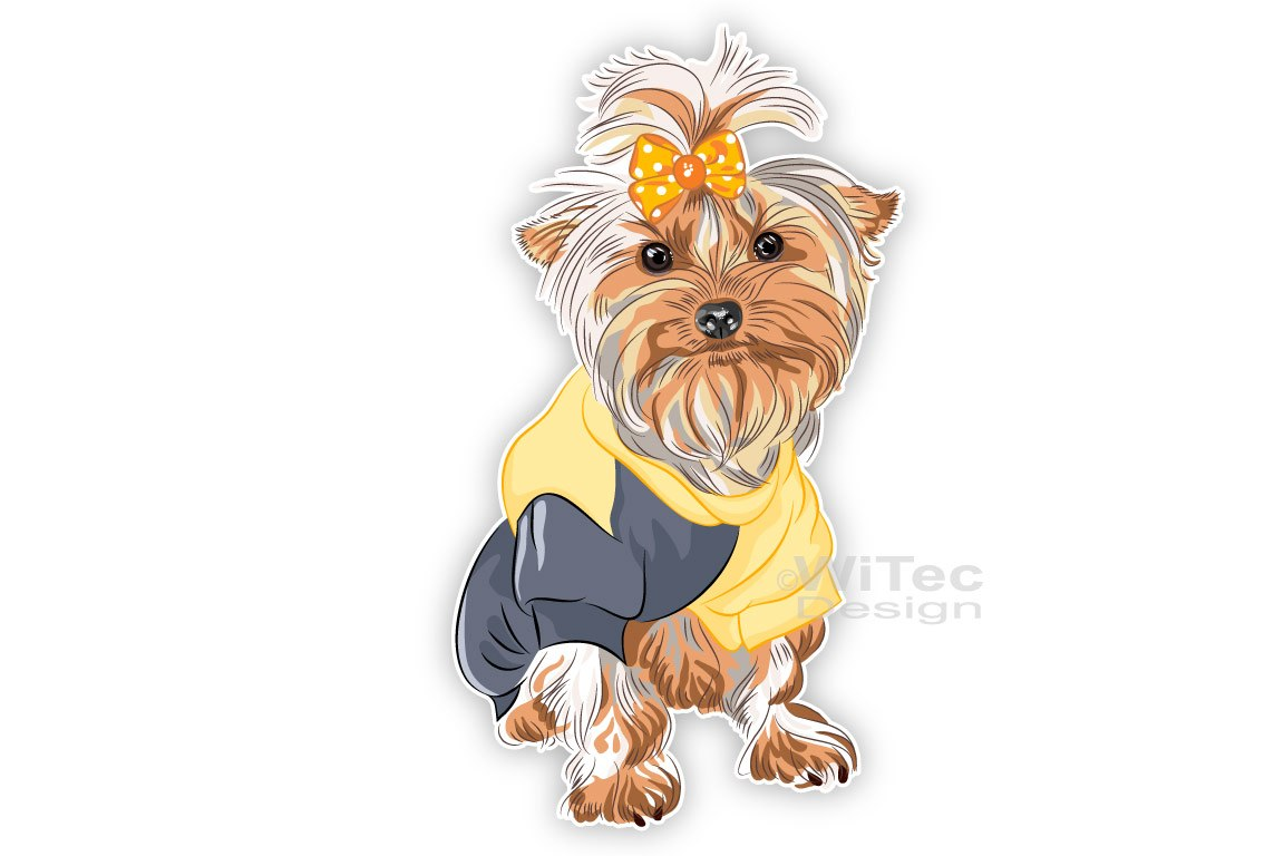 Hundeaufkleber Yorkshire Terrier Autoaufkleber Sticker