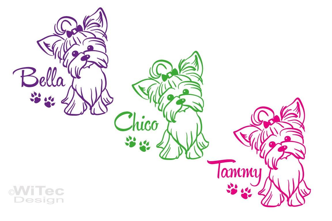 Yorkshire Terrier Hundeaufkleber Hundesticker Aufkleber Hunde Tattoo
