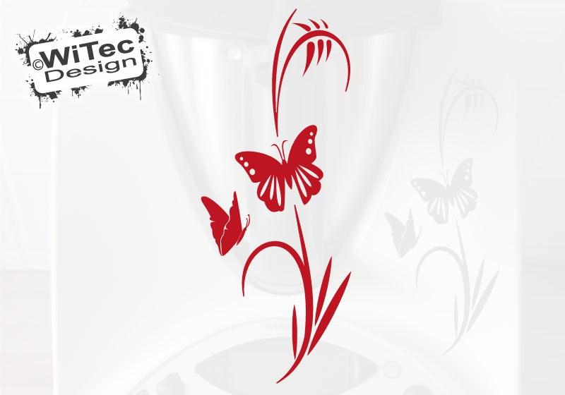 Thermomix Aufkleber Schmetterling Pflanze für Thermomix TM31 TM 31