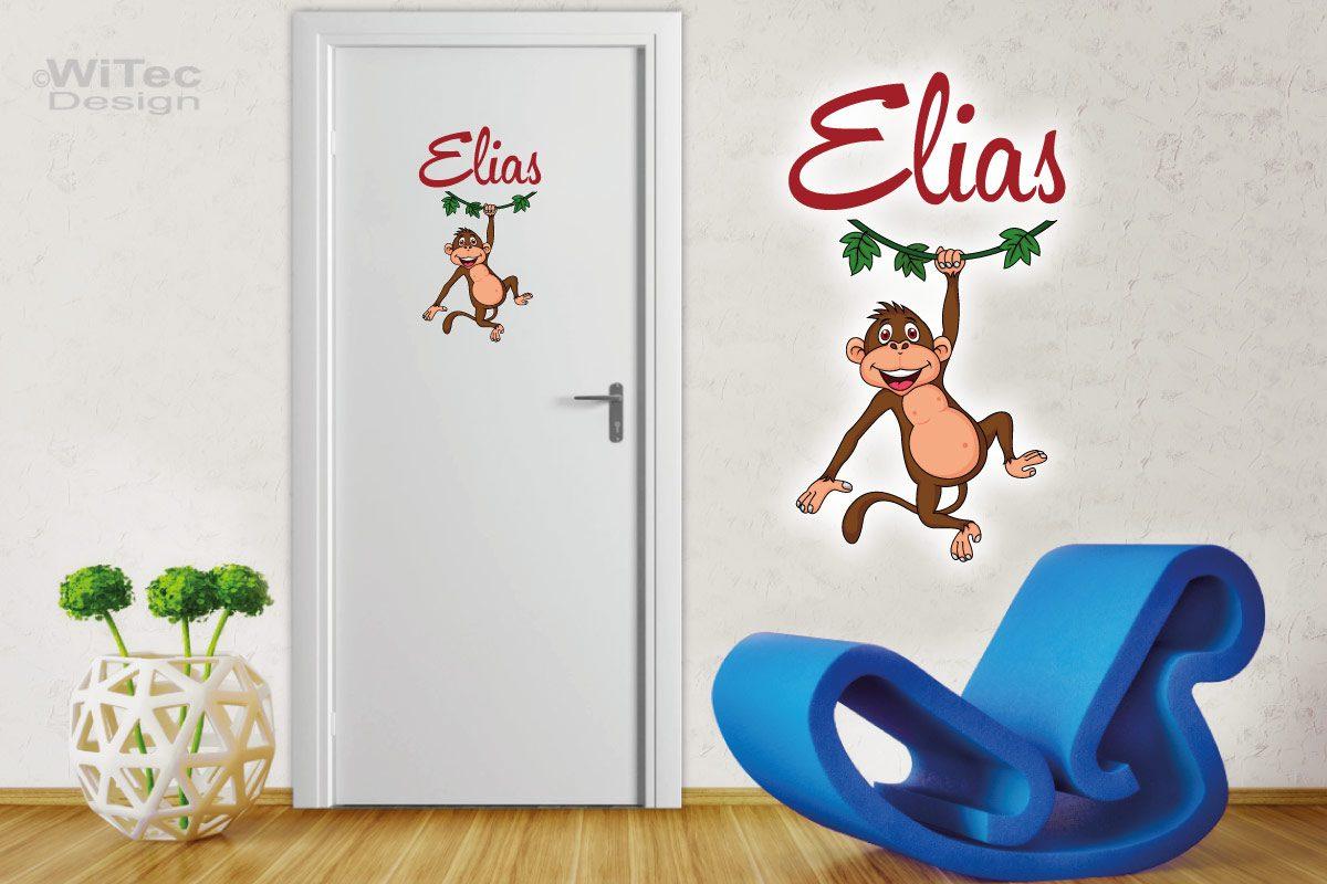 Türaufkleber Affe Schimpanse Kinderzimmer Tür Aufkleber