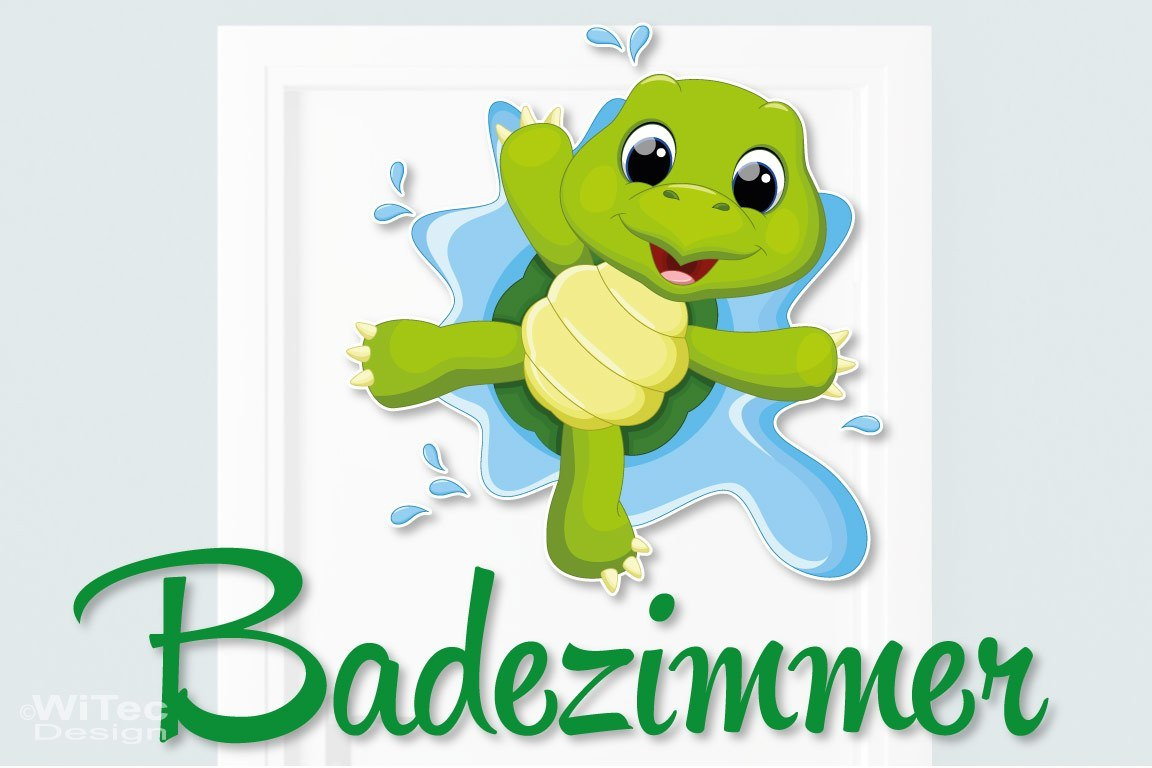 Türaufkleber Schildkröte Badezimmer Bad Türtattoo