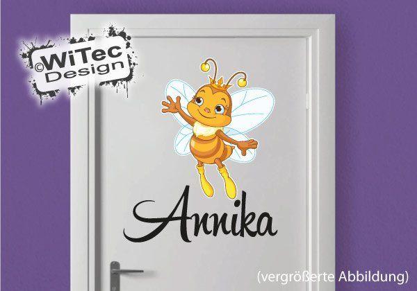 Biene Türaufkleber Kinderzimmer