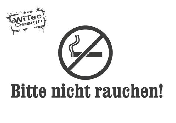 Bitte nicht rauchen Türaufkleber Büro Gewerbe Türtattoo